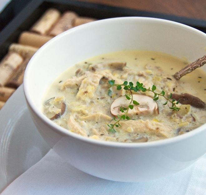 Гъбена супа с пиле
