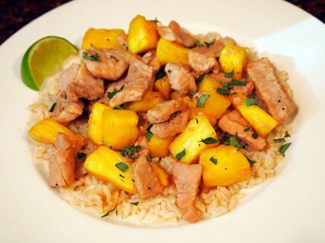 Свинско с ориз и ананас