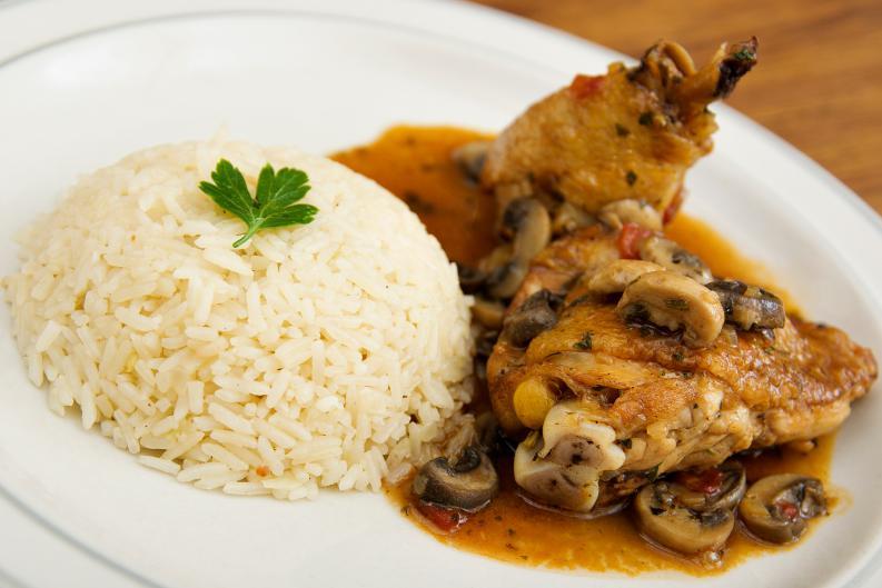 receta de pollo con champiñones 1