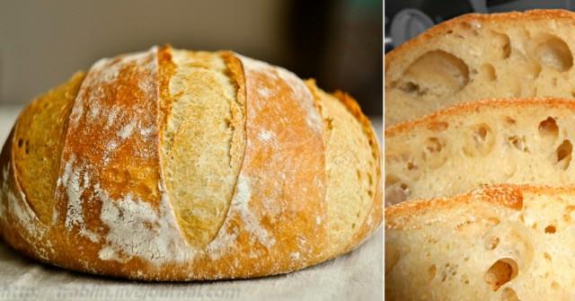 Рецепта за Домашен хляб без много усилия, пухкав, мекичък с хрупкава коричка и божествен аромат