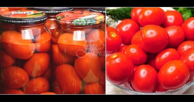 Всяка зима си хапваме пресни домати от буркани – като току-що набрани са! Супер лесно, без фризер и консерванти:
