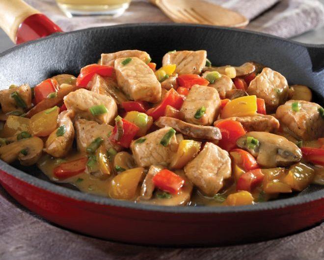 Вкусна рецепта за Свинско месо със зеленчуци