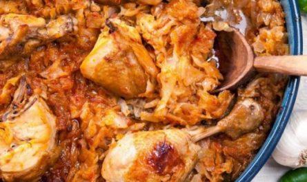 пиле с зеле