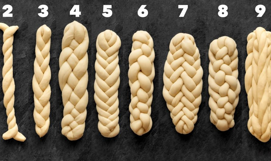 Сплитане на козунак, 9 различни плетки