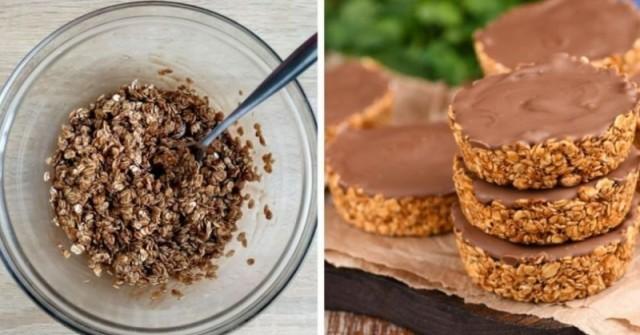 Натурални бисквитки направени само от 3 съставки и без печене