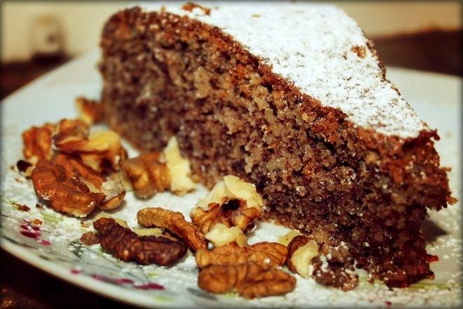 Бърз, лесен и икономичен Сладкиш с орехи и какао