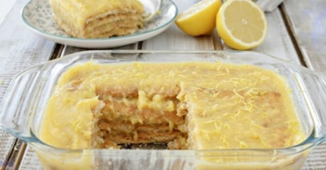 КУЛТОВ десерт за жегите! Лимонова торта без печене – хапка прохлада, която утолява жаждата: