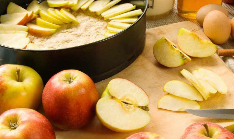 Пухкав и  много вкусен ябълков кекс само за 10 минути